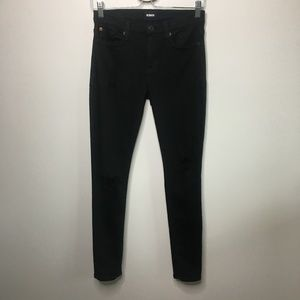 Hudson Black Nico Midrise Super Skinny Jeans